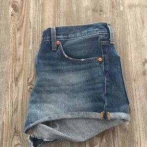 Never been worn 501 levi jean shorts